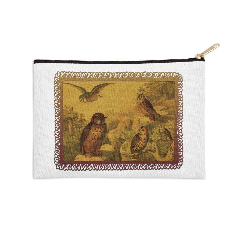 Owl Love Accessories Zip Pouch by Maryheartworks's Artist Shop