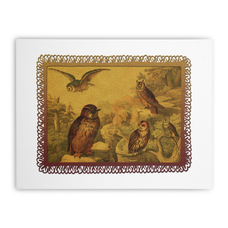 Owl Love Home Stretched Canvas by Maryheartworks's Artist Shop