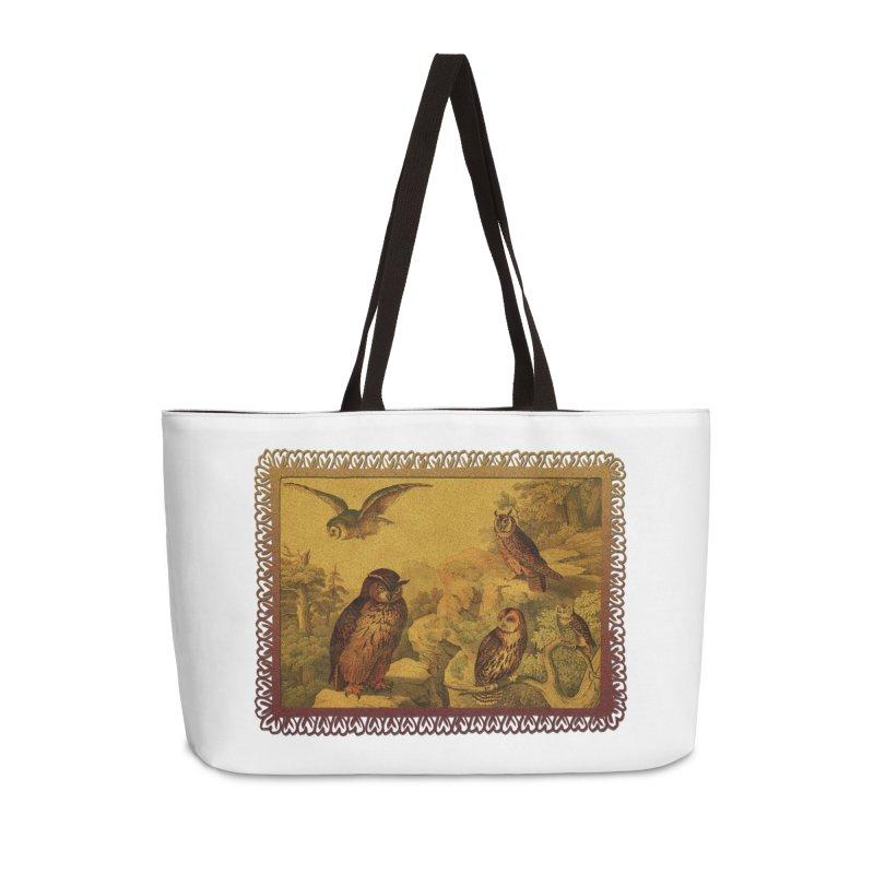 Owl Love Accessories Weekender Bag Bag by Maryheartworks's Artist Shop