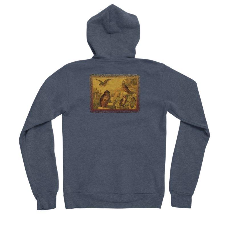 Owl Love Men's Sponge Fleece Zip-Up Hoody by Maryheartworks's Artist Shop