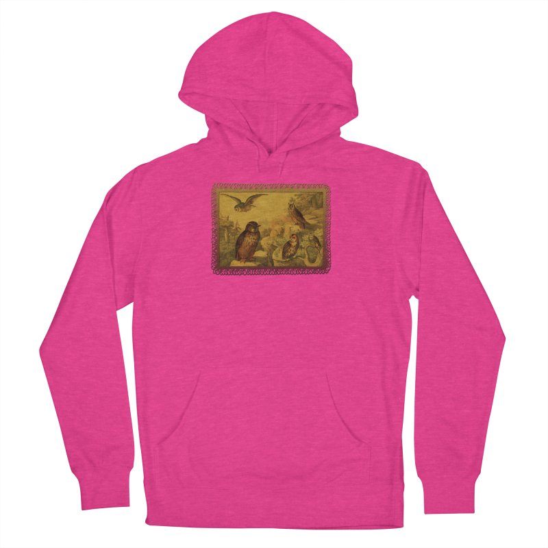 Owl Love Men's French Terry Pullover Hoody by Maryheartworks's Artist Shop