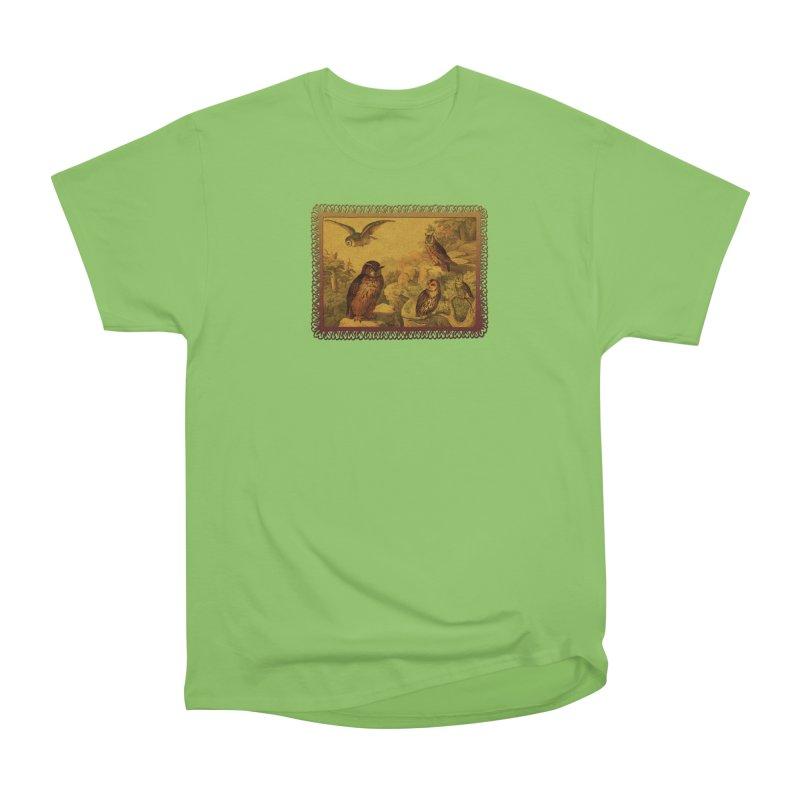 Owl Love Women's Heavyweight Unisex T-Shirt by Maryheartworks's Artist Shop