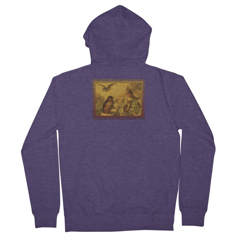 Owl Love Men's French Terry Zip-Up Hoody by Maryheartworks's Artist Shop