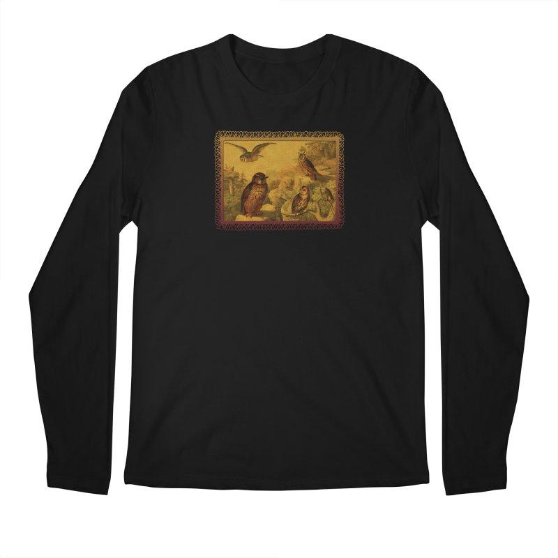 Owl Love Men's Regular Longsleeve T-Shirt by Maryheartworks's Artist Shop
