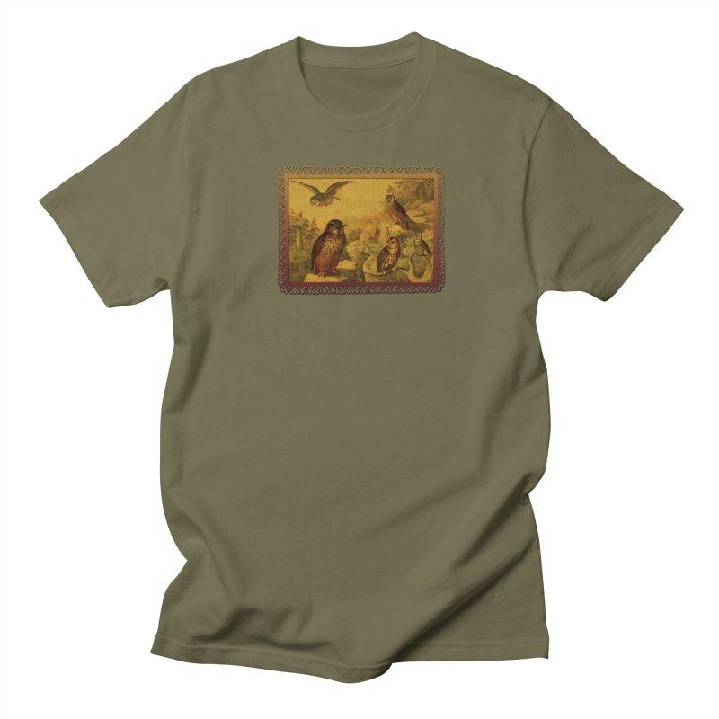 Owl Love Men's Regular T-Shirt by Maryheartworks's Artist Shop