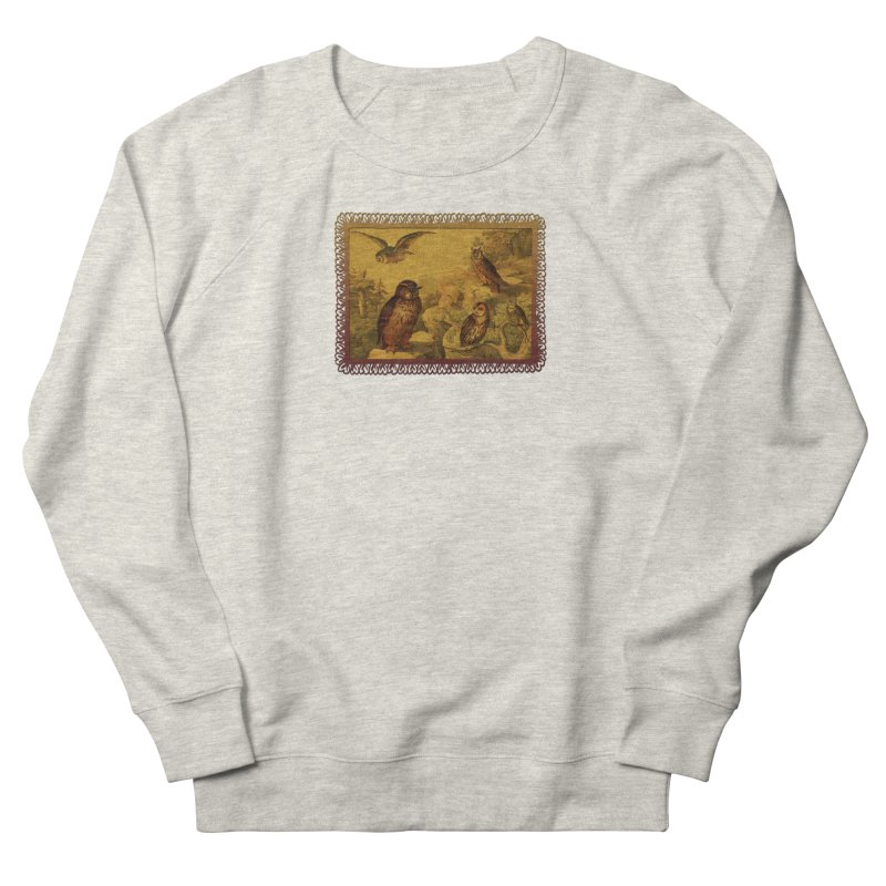 Owl Love Women's French Terry Sweatshirt by Maryheartworks's Artist Shop
