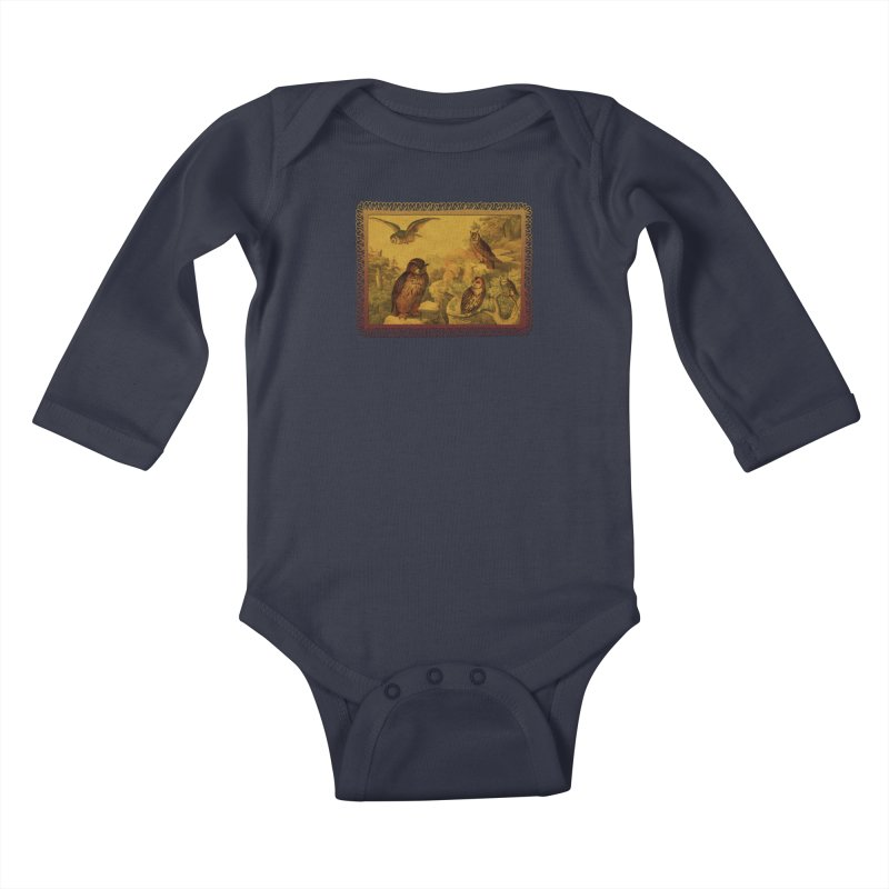 Owl Love Kids Baby Longsleeve Bodysuit by Maryheartworks's Artist Shop