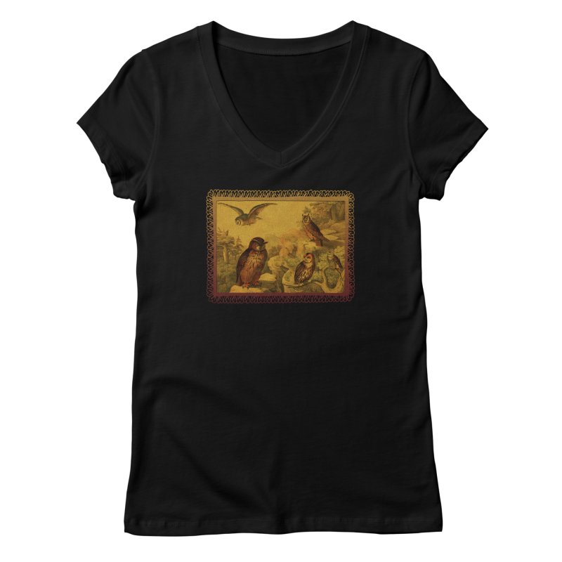 Owl Love Women's V-Neck by Maryheartworks's Artist Shop