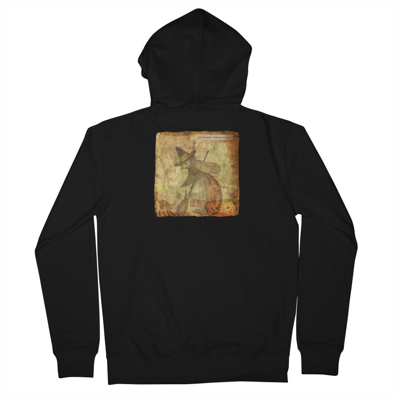 Halloween Preparations Women's French Terry Zip-Up Hoody by Maryheartworks's Artist Shop