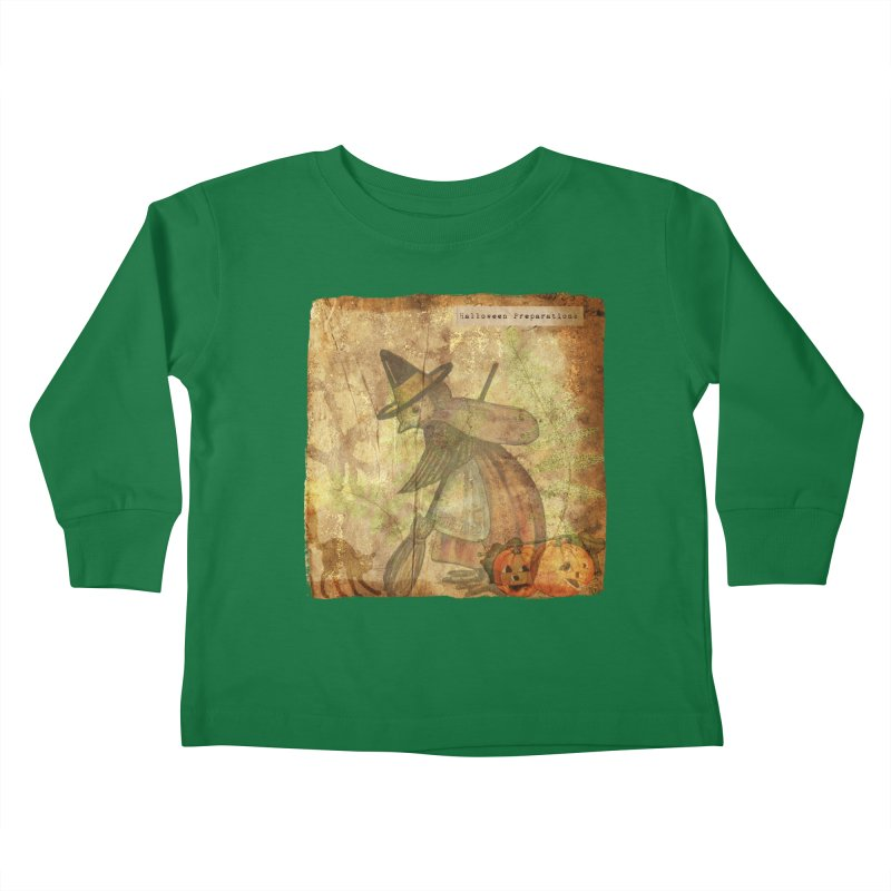 Halloween Preparations Kids Toddler Longsleeve T-Shirt by Maryheartworks's Artist Shop