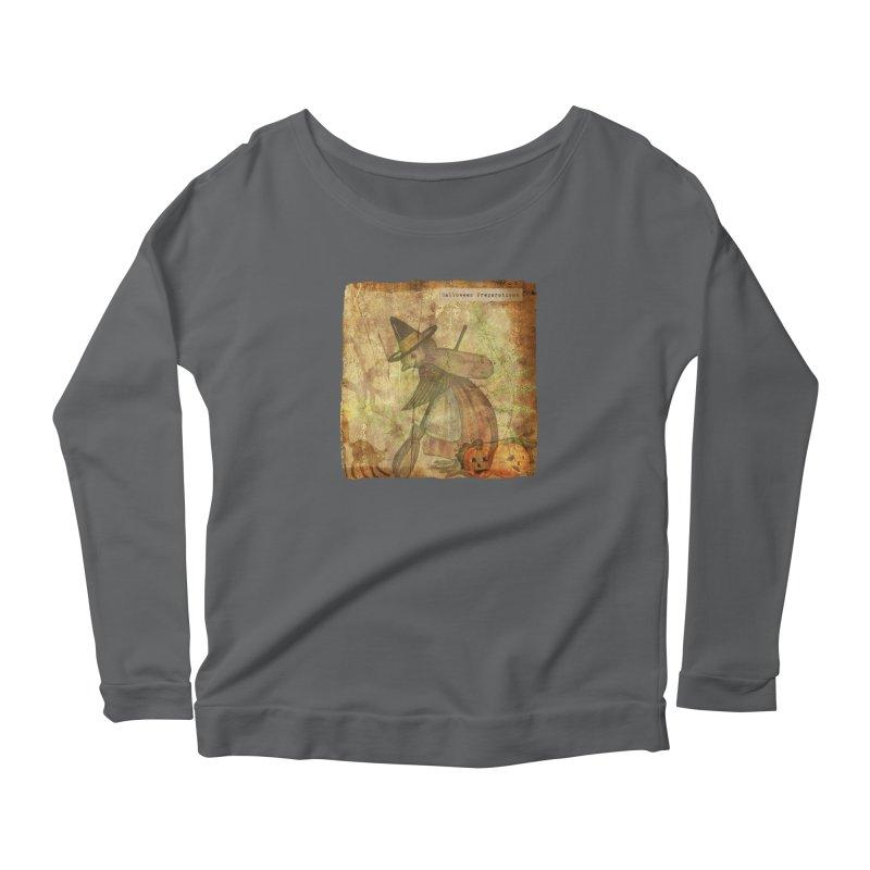 Halloween Preparations Women's Scoop Neck Longsleeve T-Shirt by Maryheartworks's Artist Shop