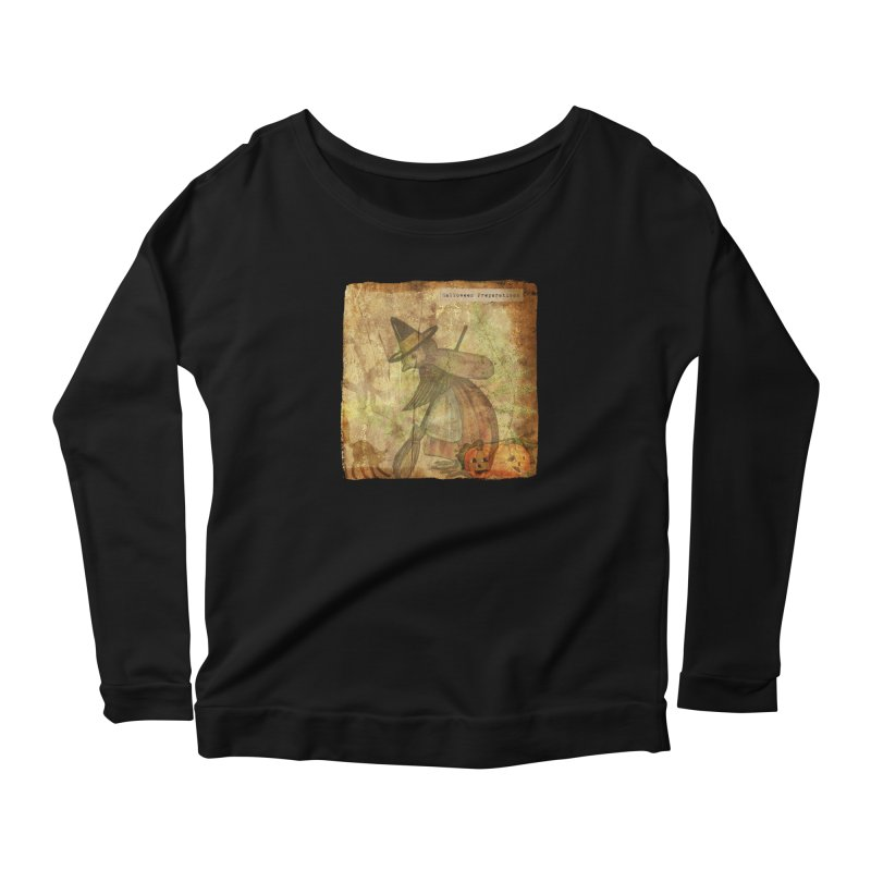 Halloween Preparations Women's Scoop Neck Longsleeve T-Shirt by Maryheartworks's Artist Shop