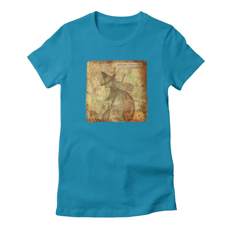 Halloween Preparations Women's Fitted T-Shirt by Maryheartworks's Artist Shop