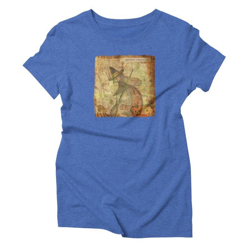 Halloween Preparations Women's Triblend T-Shirt by Maryheartworks's Artist Shop