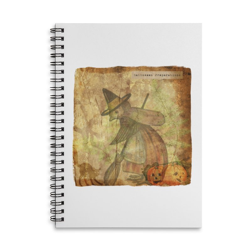 Halloween Preparations Accessories Lined Spiral Notebook by Maryheartworks's Artist Shop