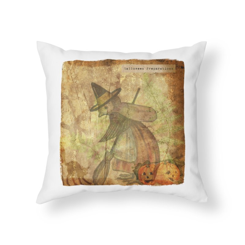Halloween Preparations Home Throw Pillow by Maryheartworks's Artist Shop