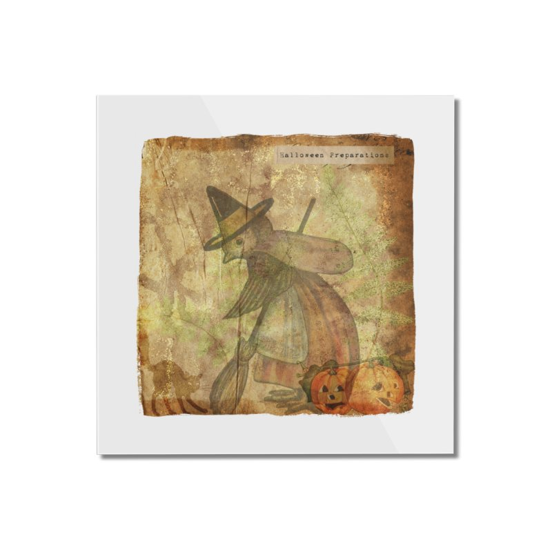 Halloween Preparations Home Mounted Acrylic Print by Maryheartworks's Artist Shop