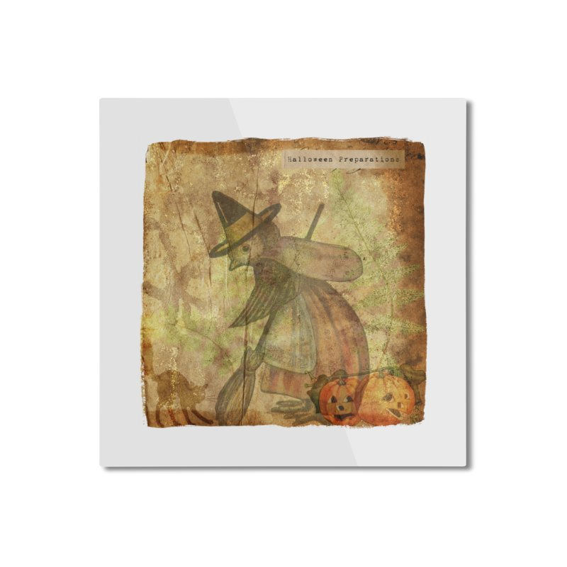 Halloween Preparations Home Mounted Aluminum Print by Maryheartworks's Artist Shop