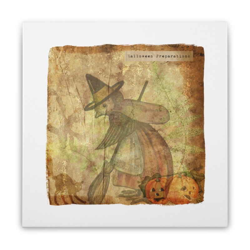 Halloween Preparations Home Stretched Canvas by Maryheartworks's Artist Shop