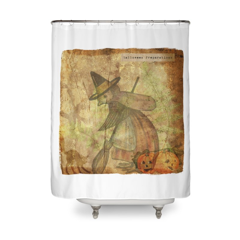 Halloween Preparations Home Shower Curtain by Maryheartworks's Artist Shop