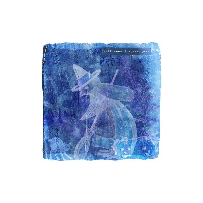 Halloween Preparations Design In Blue Boo Home Blanket by Maryheartworks's Artist Shop