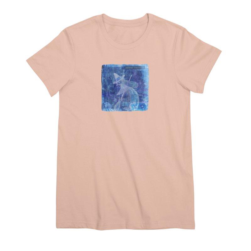 Halloween Preparations Design In Blue Boo Women's Premium T-Shirt by Maryheartworks's Artist Shop
