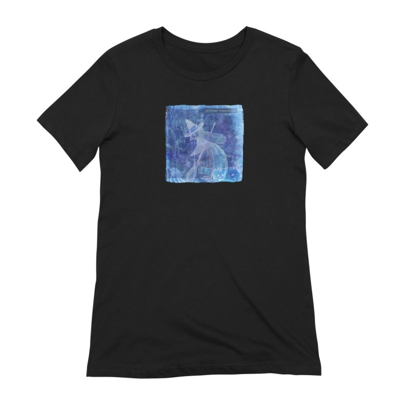 Halloween Preparations Design In Blue Boo Women's Extra Soft T-Shirt by Maryheartworks's Artist Shop