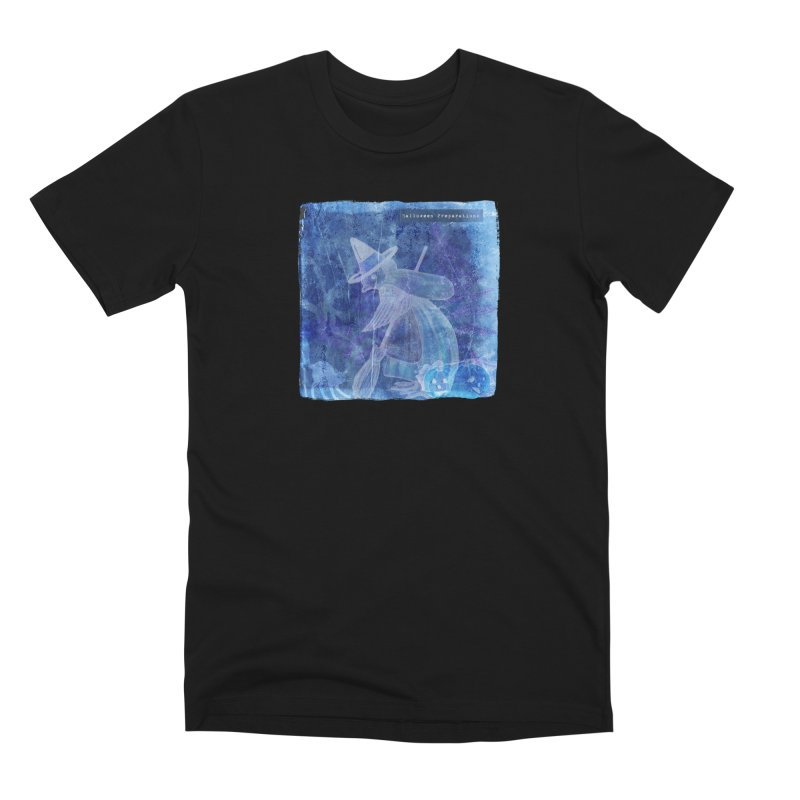 Halloween Preparations Design In Blue Boo Men's Premium T-Shirt by Maryheartworks's Artist Shop