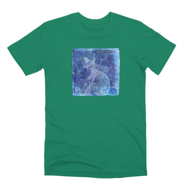 Halloween Preparations Design In Blue Boo Men's Premium T-Shirt by Maryheartworks's Artist Shop
