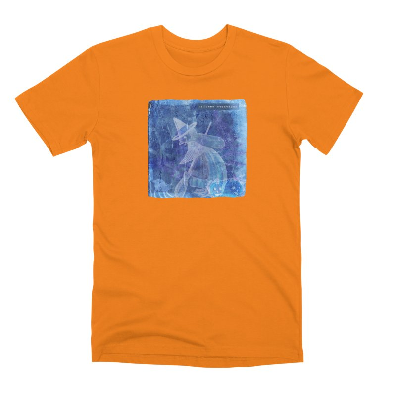 Halloween Preparations Design In Blue Boo Men's T-Shirt by Maryheartworks's Artist Shop
