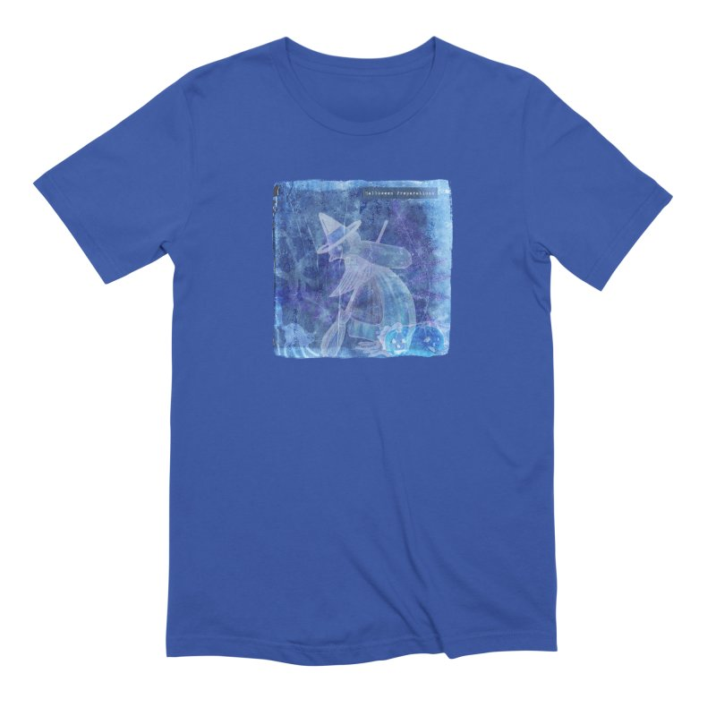 Halloween Preparations Design In Blue Boo Men's Extra Soft T-Shirt by Maryheartworks's Artist Shop