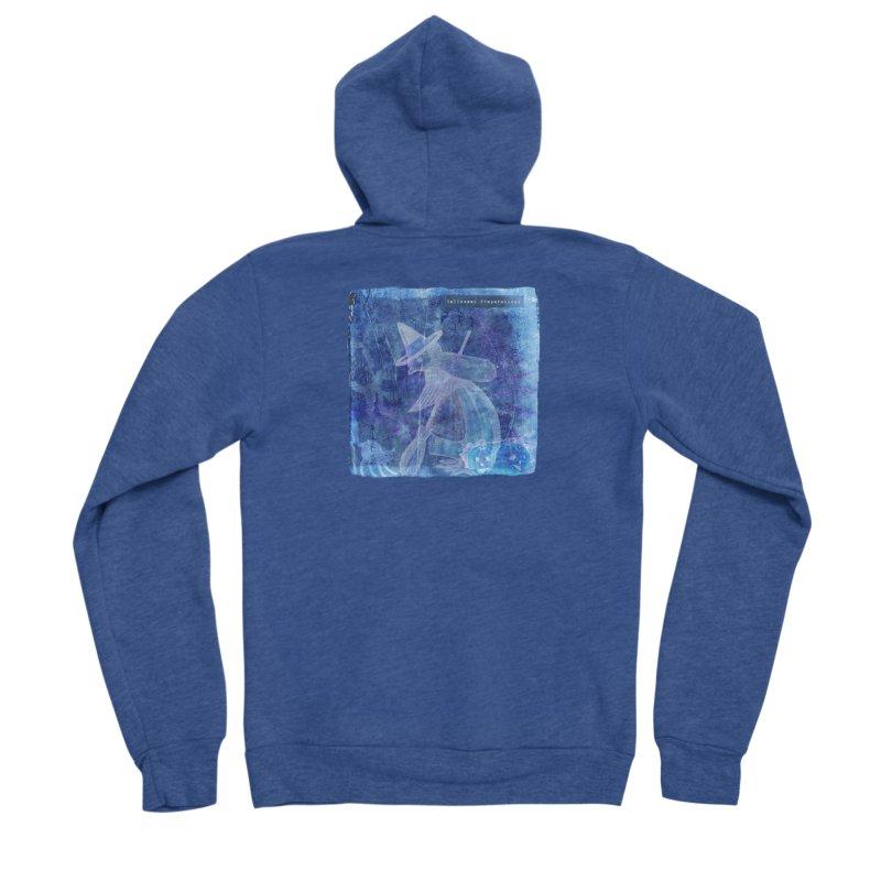 Halloween Preparations Design In Blue Boo Men's Sponge Fleece Zip-Up Hoody by Maryheartworks's Artist Shop