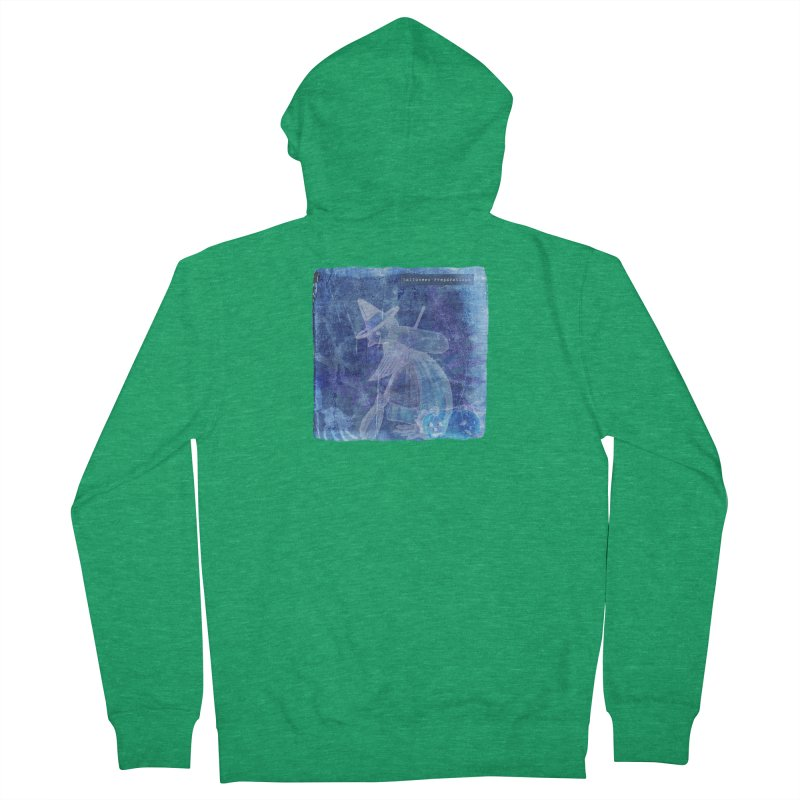 Halloween Preparations Design In Blue Boo Women's Zip-Up Hoody by Maryheartworks's Artist Shop