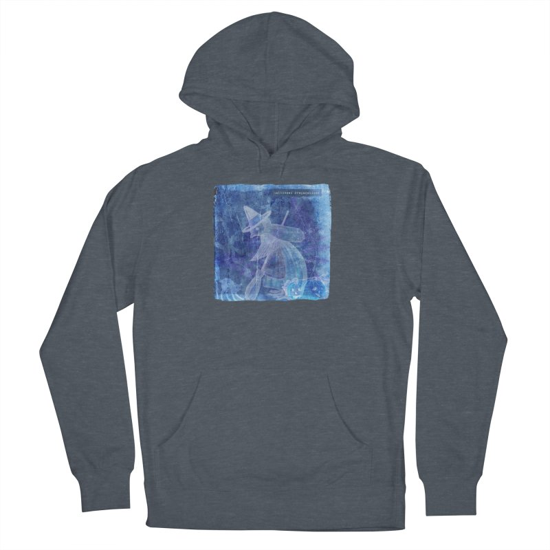 Halloween Preparations Design In Blue Boo Men's French Terry Pullover Hoody by Maryheartworks's Artist Shop