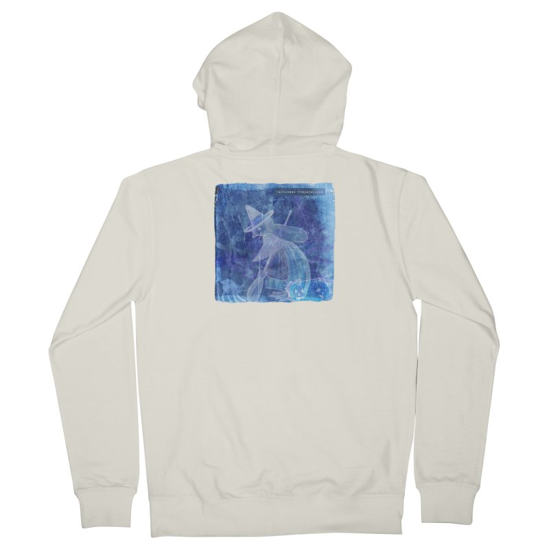 Halloween Preparations Design In Blue Boo Women's French Terry Zip-Up Hoody by Maryheartworks's Artist Shop