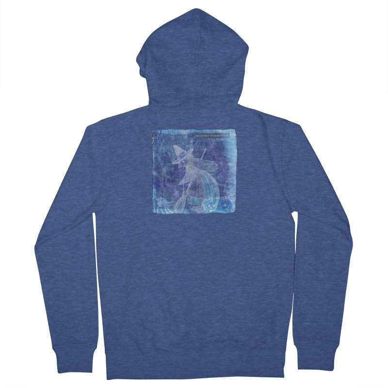 Halloween Preparations Design In Blue Boo Men's French Terry Zip-Up Hoody by Maryheartworks's Artist Shop