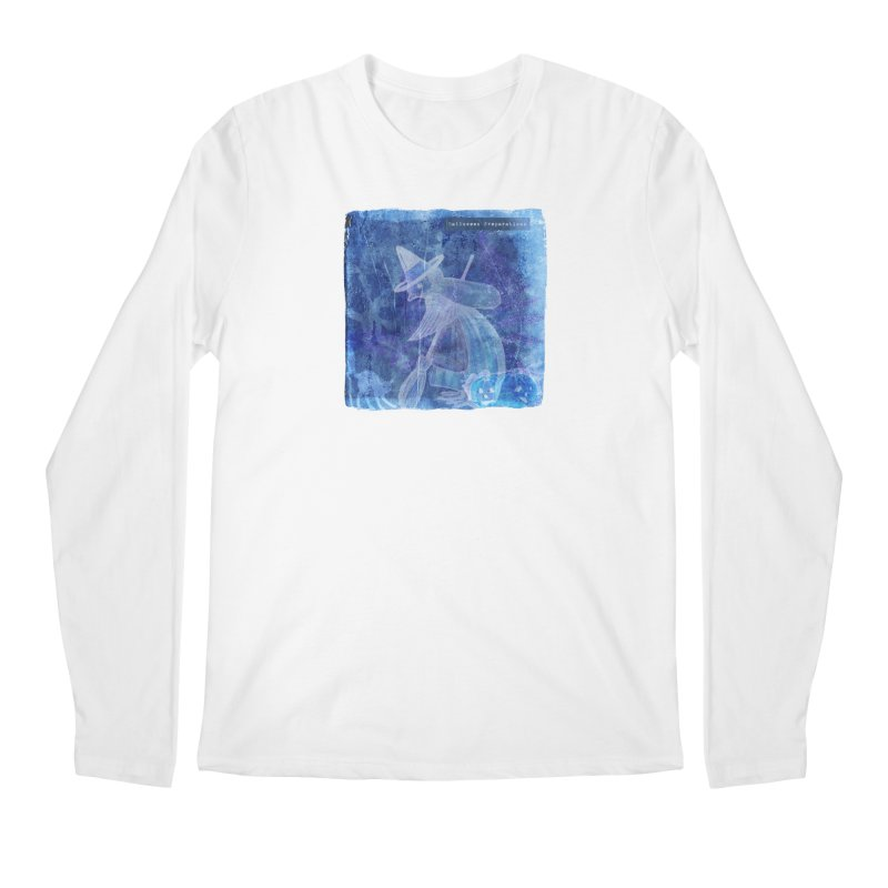 Halloween Preparations Design In Blue Boo Men's Regular Longsleeve T-Shirt by Maryheartworks's Artist Shop