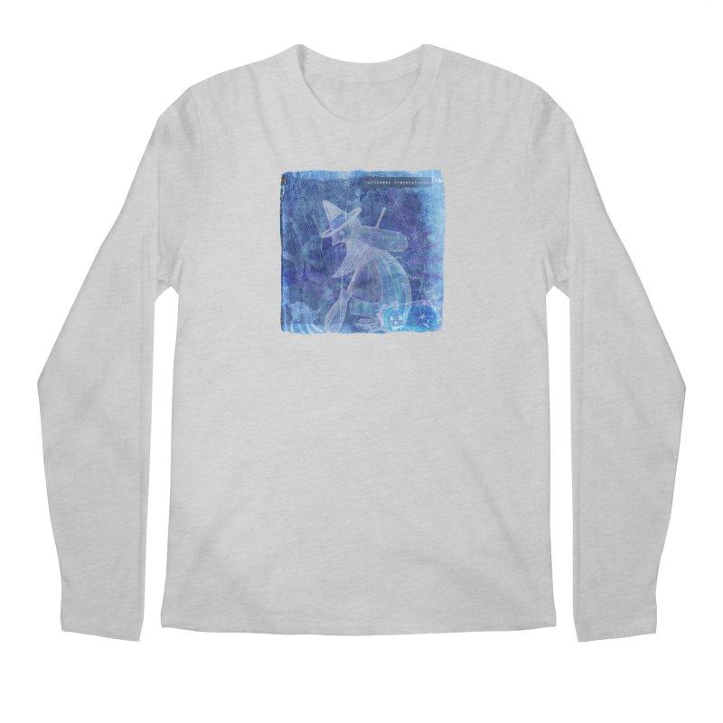 Halloween Preparations Design In Blue Boo Men's Regular Longsleeve T-Shirt by Maryheartworks's Artist Shop