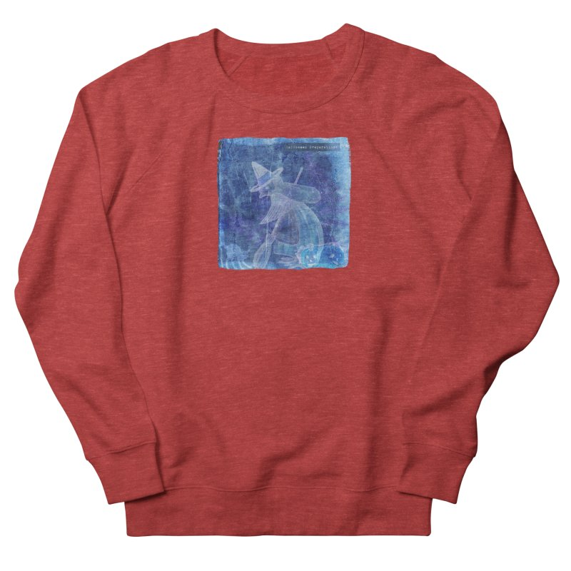 Halloween Preparations Design In Blue Boo Women's French Terry Sweatshirt by Maryheartworks's Artist Shop