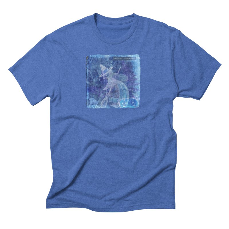 Halloween Preparations Design In Blue Boo Men's Triblend T-Shirt by Maryheartworks's Artist Shop