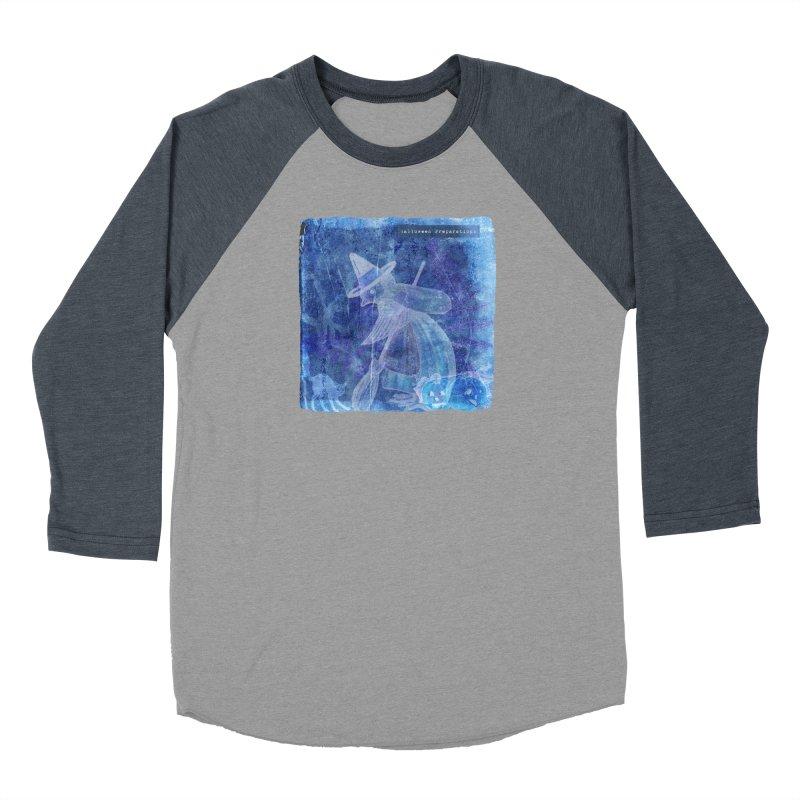 Halloween Preparations Design In Blue Boo Men's Baseball Triblend Longsleeve T-Shirt by Maryheartworks's Artist Shop