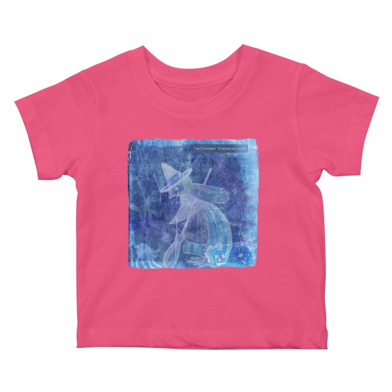 Halloween Preparations Design In Blue Boo Kids Baby T-Shirt by Maryheartworks's Artist Shop