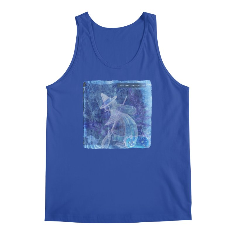 Halloween Preparations Design In Blue Boo Men's Regular Tank by Maryheartworks's Artist Shop