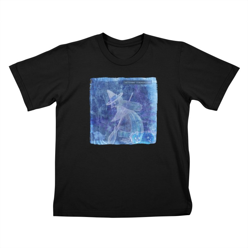 Halloween Preparations Design In Blue Boo Kids T-Shirt by Maryheartworks's Artist Shop