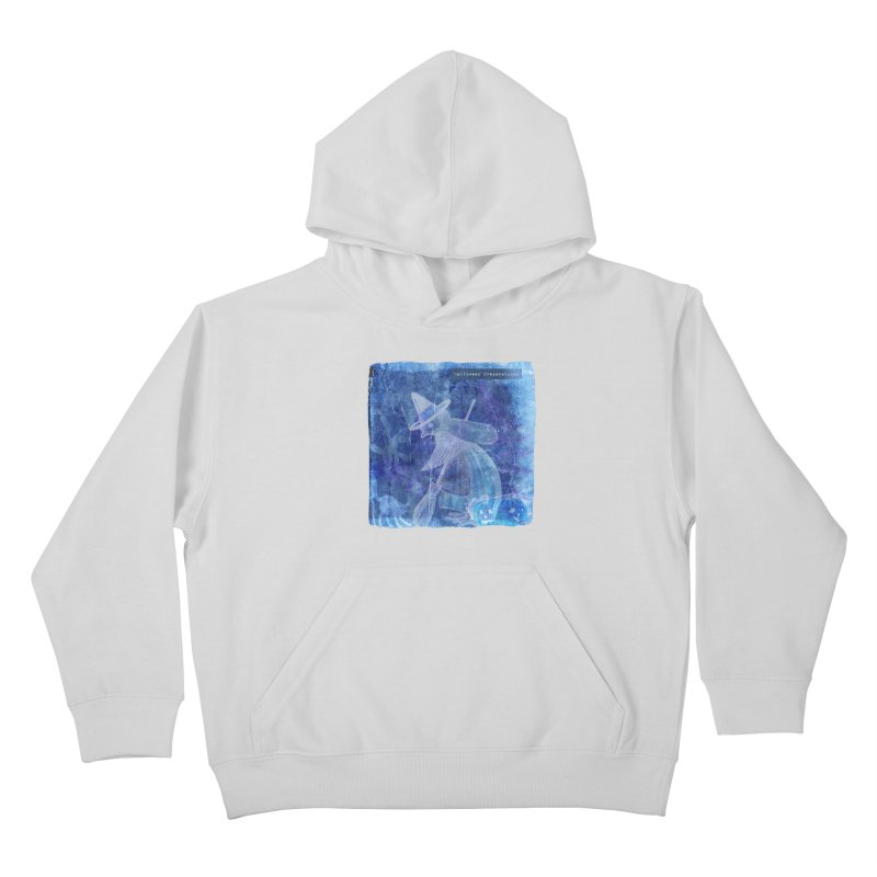 Halloween Preparations Design In Blue Boo Kids Pullover Hoody by Maryheartworks's Artist Shop