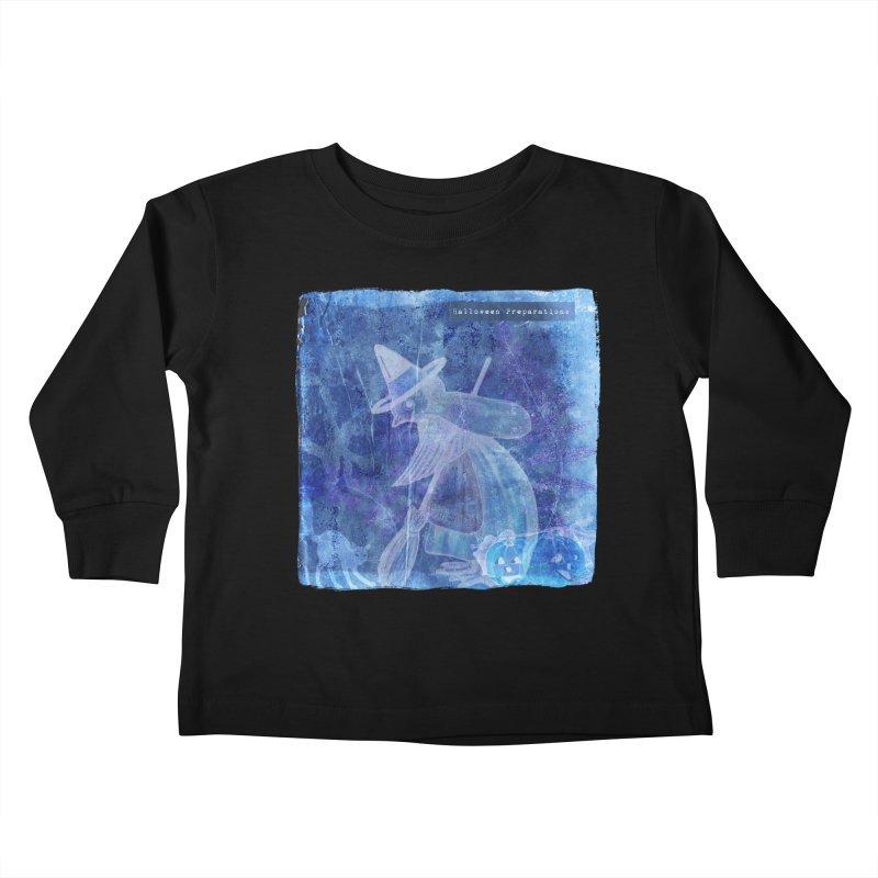 Halloween Preparations Design In Blue Boo Kids Toddler Longsleeve T-Shirt by Maryheartworks's Artist Shop