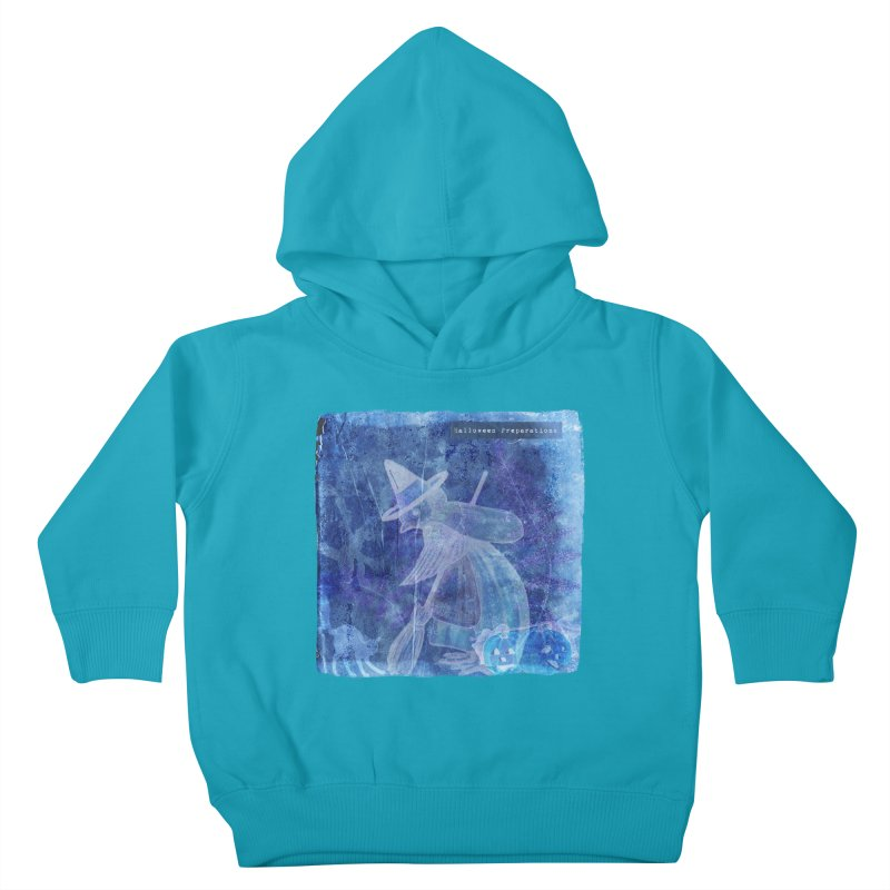 Halloween Preparations Design In Blue Boo Kids Toddler Pullover Hoody by Maryheartworks's Artist Shop