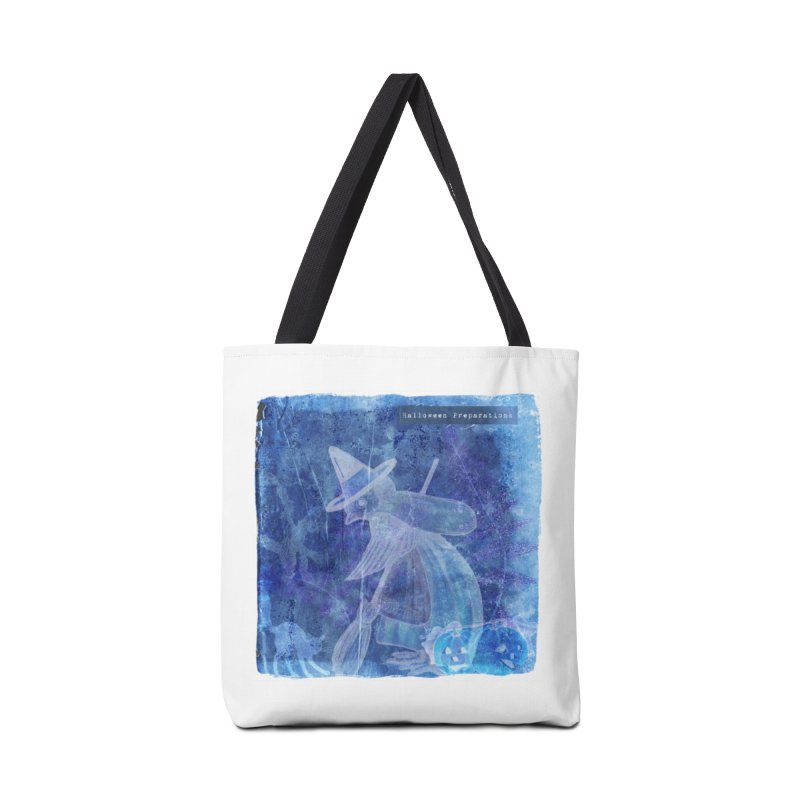 Halloween Preparations Design In Blue Boo Accessories Tote Bag Bag by Maryheartworks's Artist Shop