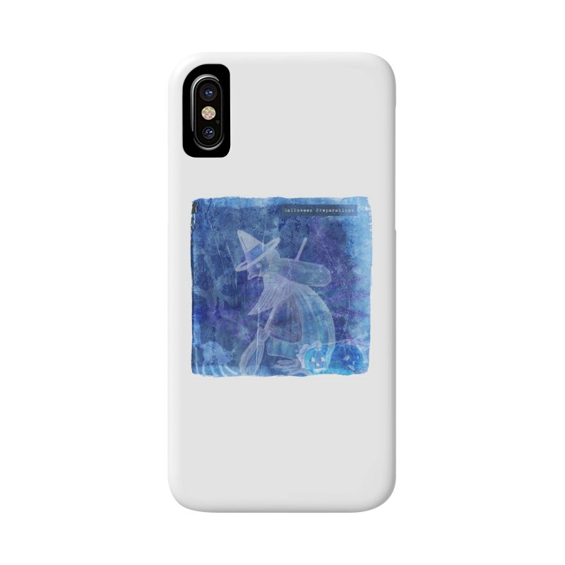 Halloween Preparations Design In Blue Boo Accessories Phone Case by Maryheartworks's Artist Shop