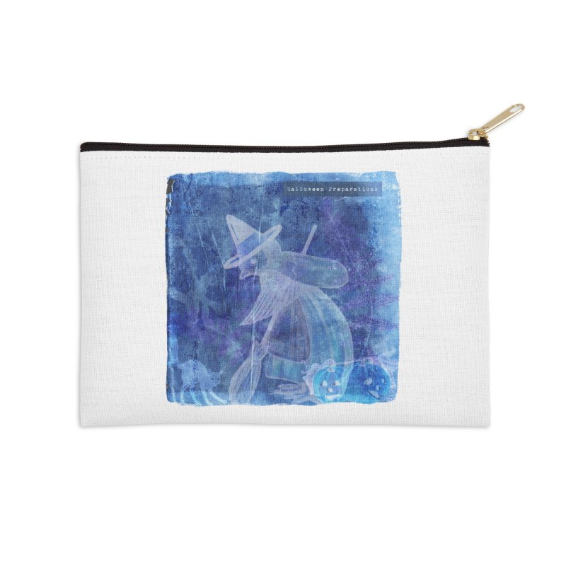 Halloween Preparations Design In Blue Boo Accessories Zip Pouch by Maryheartworks's Artist Shop